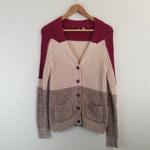 Urban Outfitters BDG Color Block Knit Cardigan
